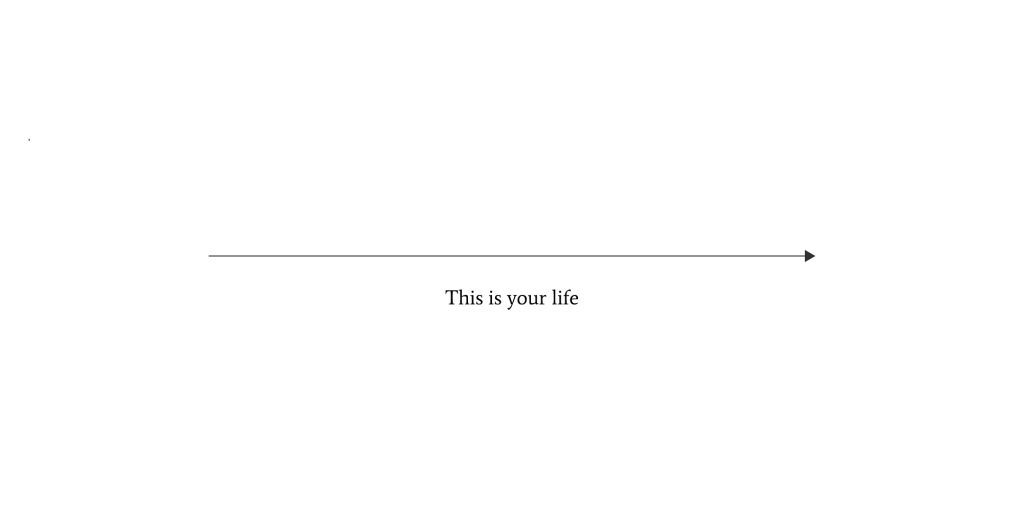 A straight line representing your life when you are not changing