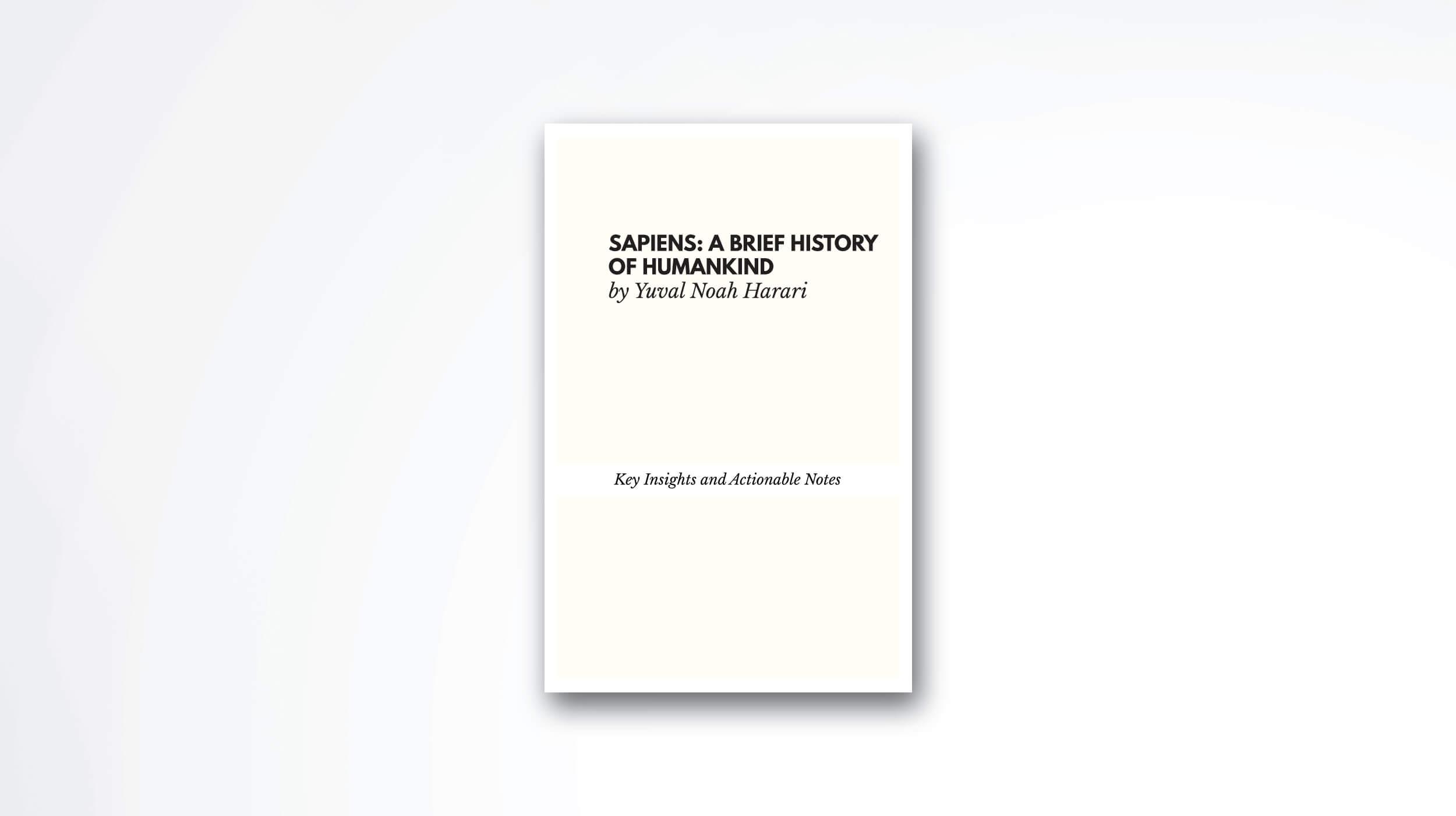 sapiens book summary