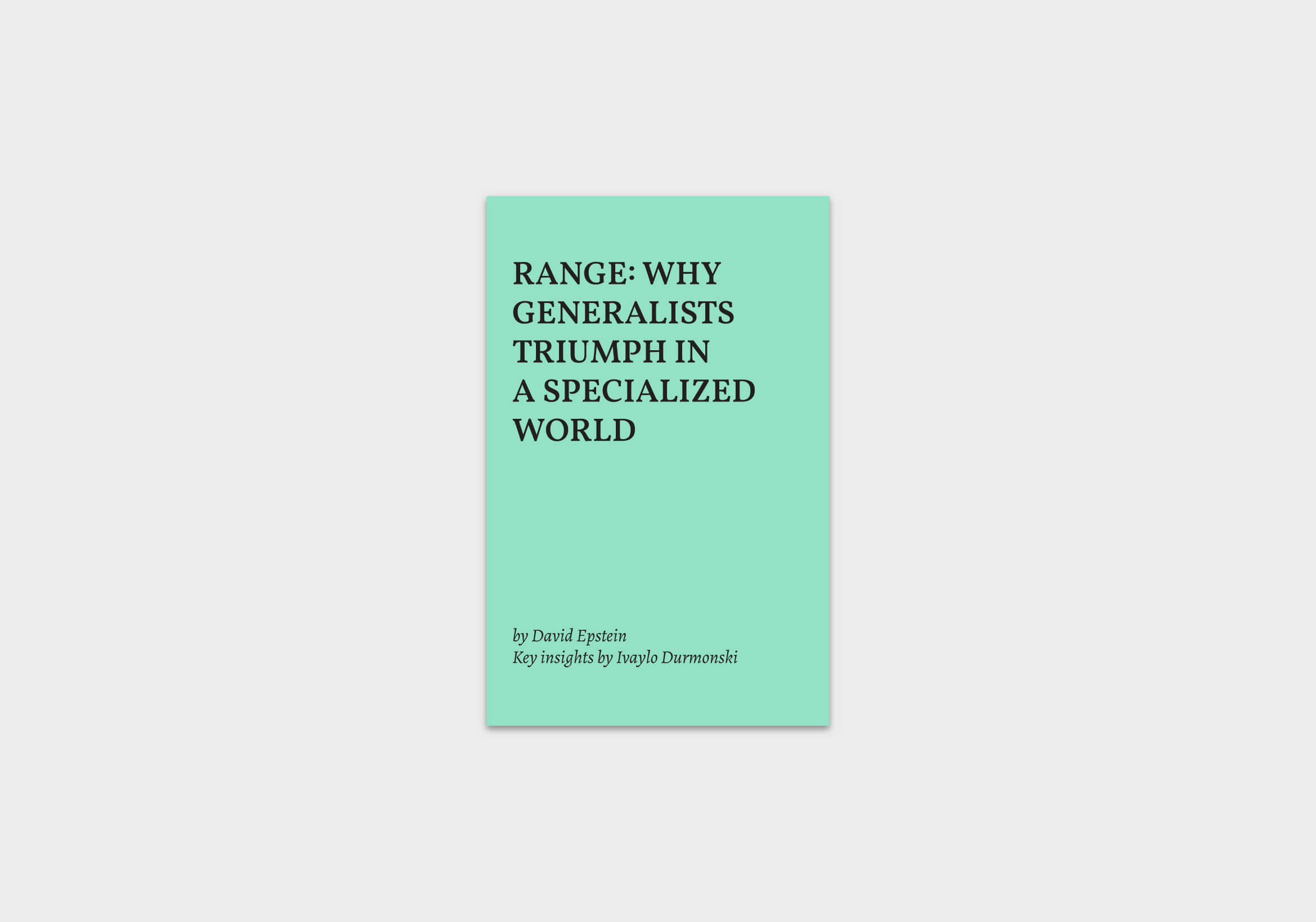 Range-Why-Generalists-Triumph-book-summary cover