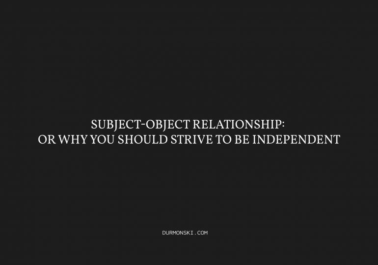 Subject-Object-Relationship