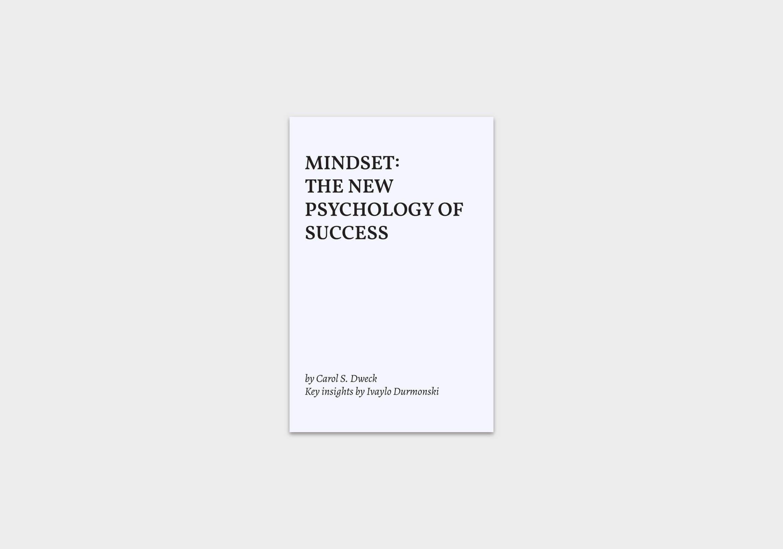 Mindset-The-New-Psychology-of-Success-summary