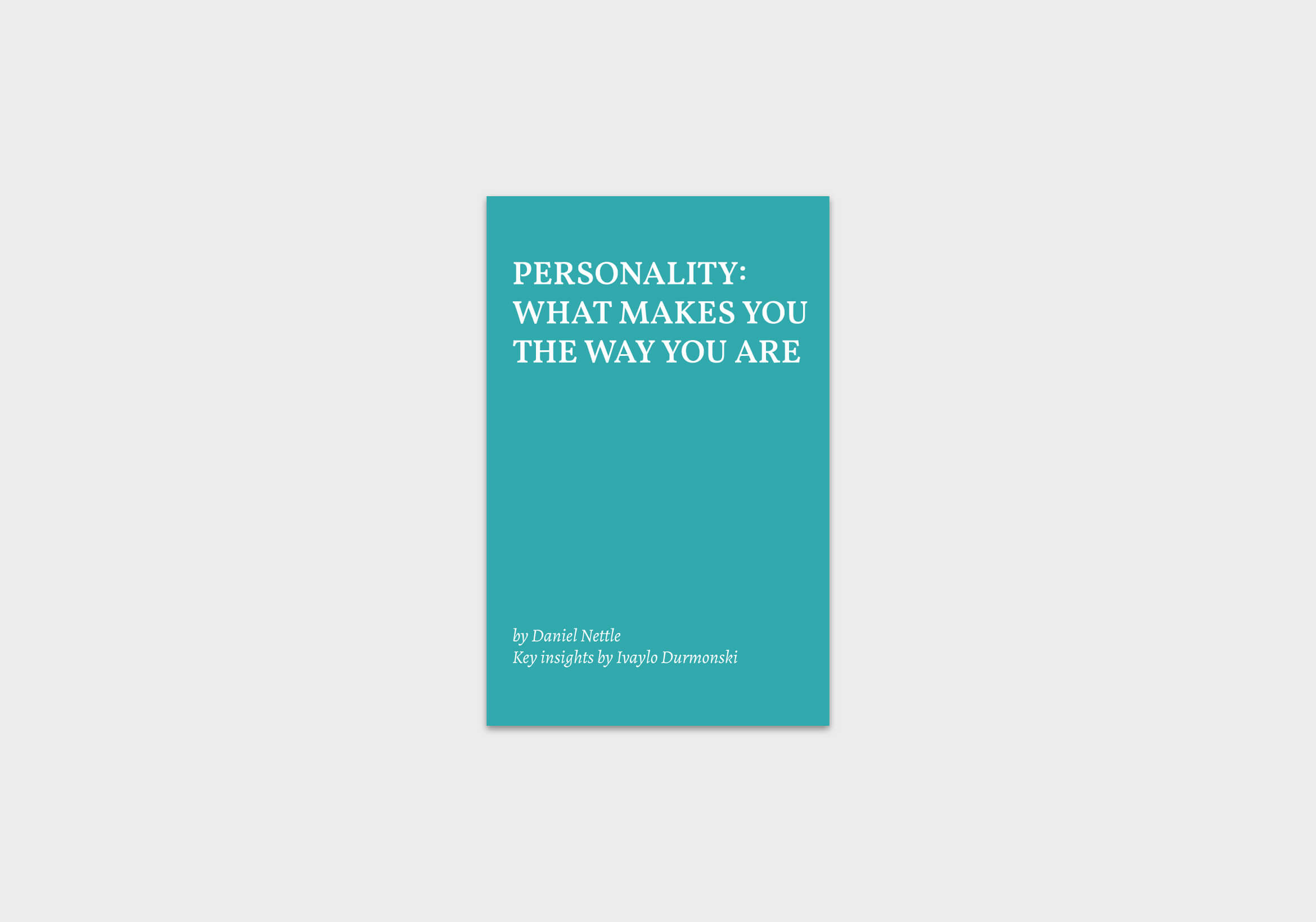 Personality-What-Makes-You-book-summary