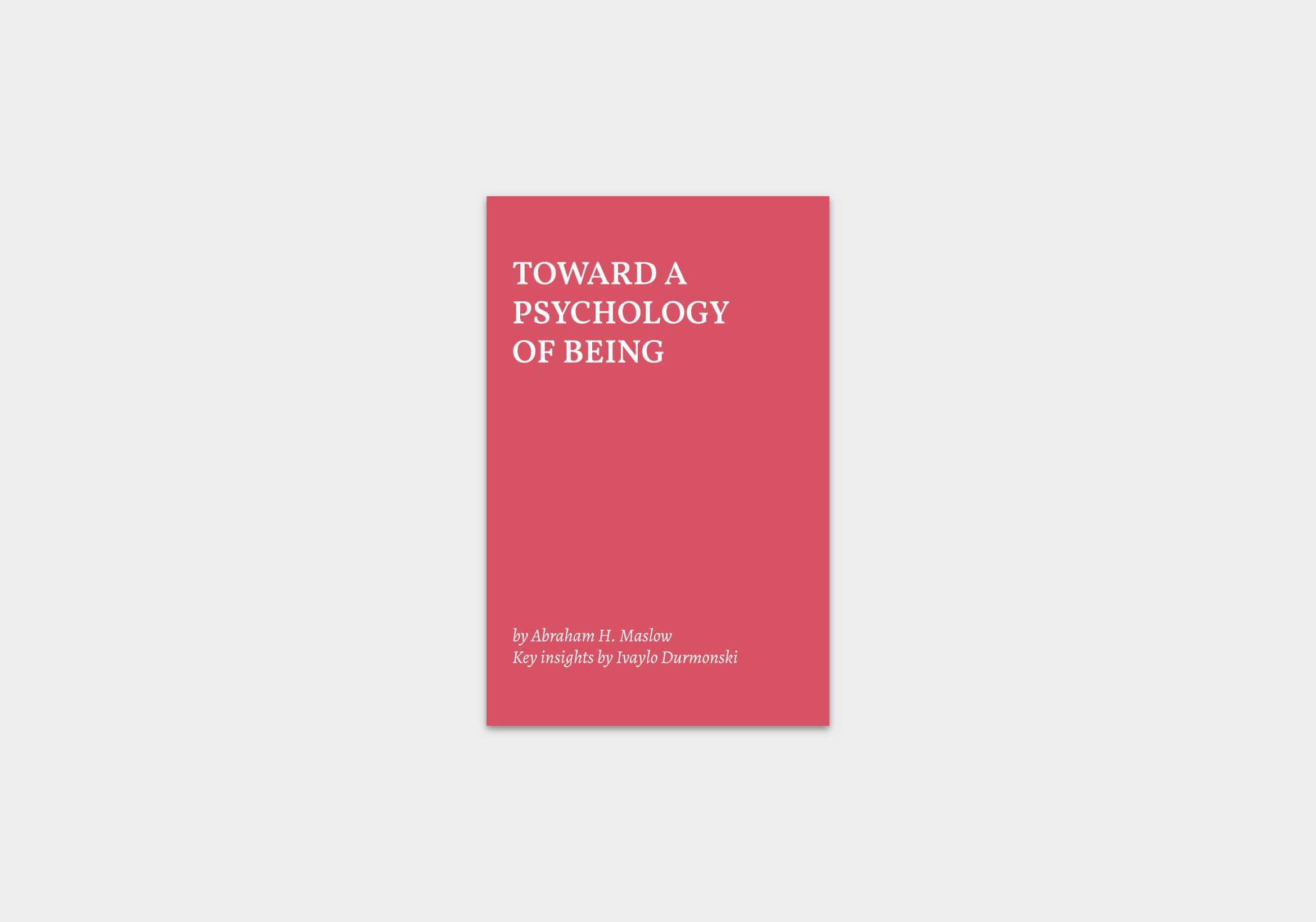 Toward-a-Psychology-of-Being-summary