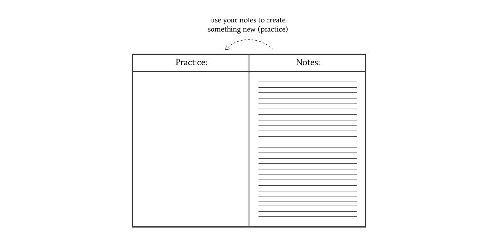 practice using your notes