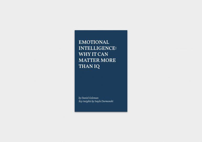 Emotional Intelligence by Daniel Goleman summary cover image