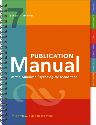Publication Manual of the American Psychological Association book cover photo