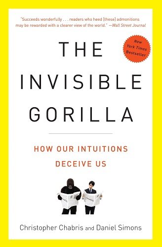 The Invisible Gorilla by Christopher Chabris book cover photo