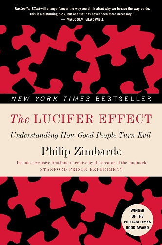 The Lucifer Effect by Philip Zimbardo book cover