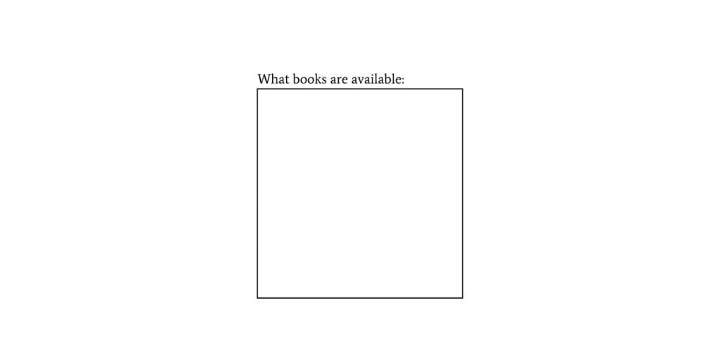 what-books-are-available